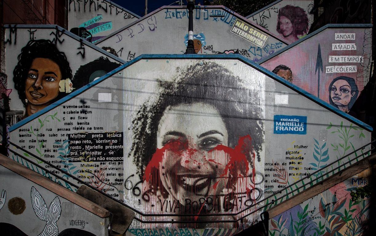 Escadão Marielle Franco, em São Paulo