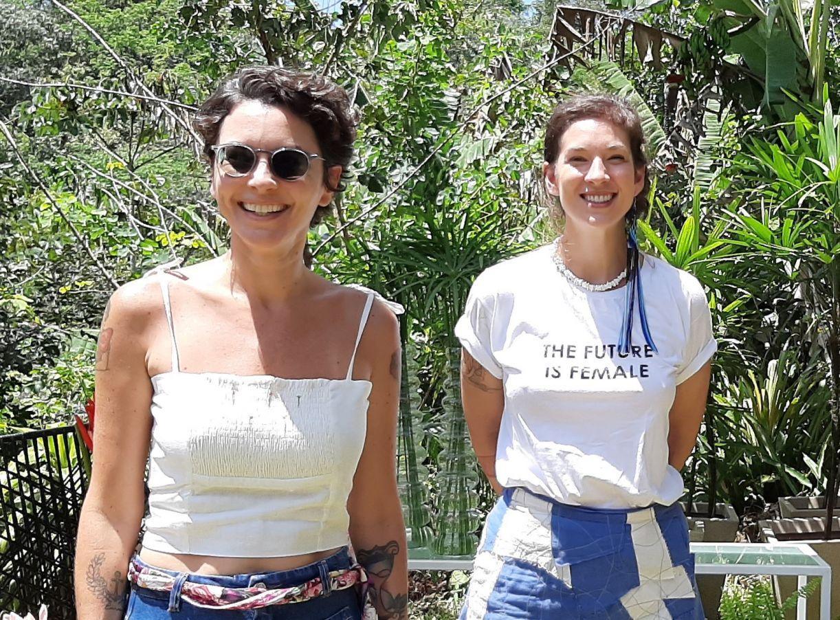Mariana Maciel e Bruna Albuquerque, respectivamente, idealizadora e curadora do evento