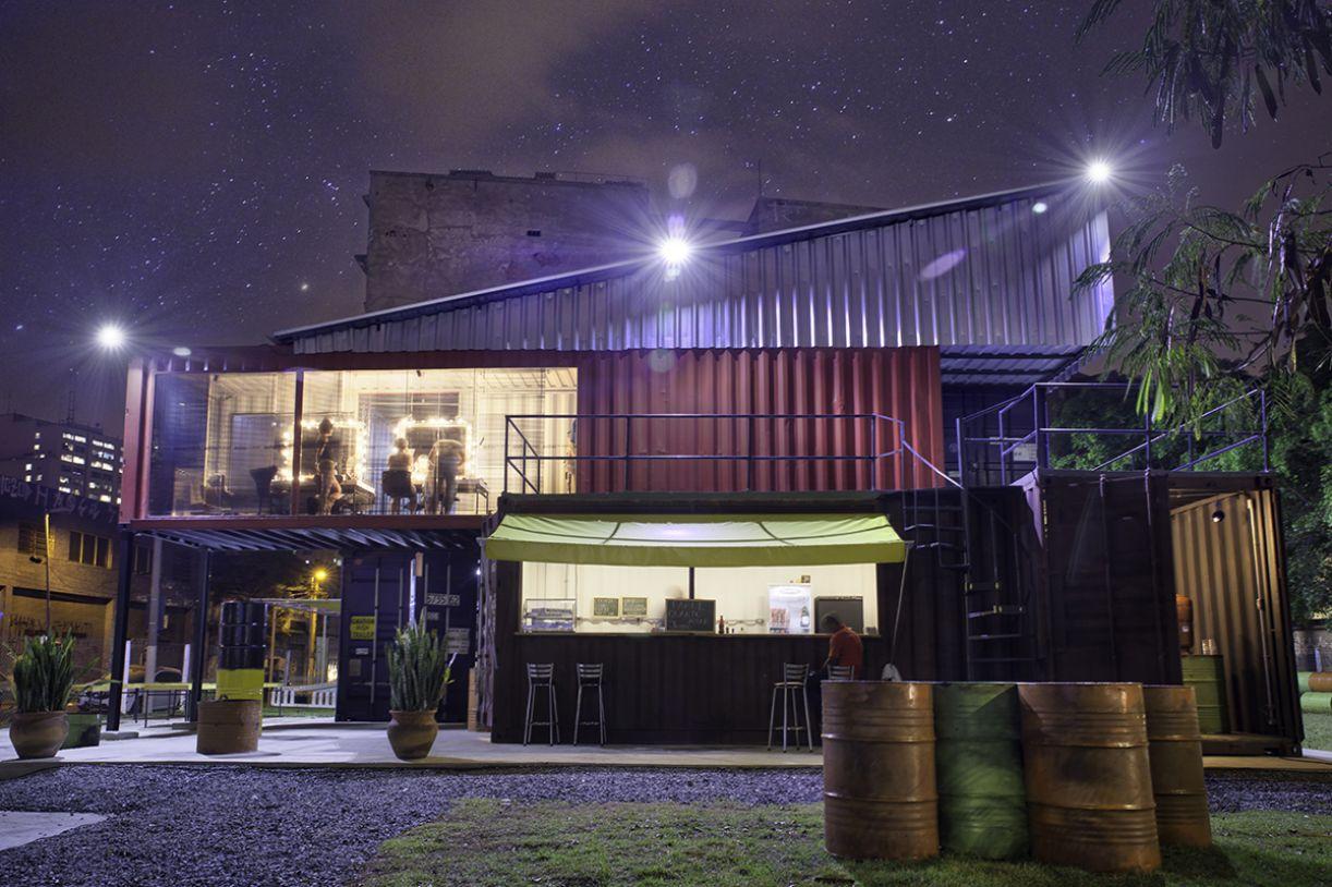 Espaço do Teatro de Contêiner, da Cia. Mungunzá (SP)