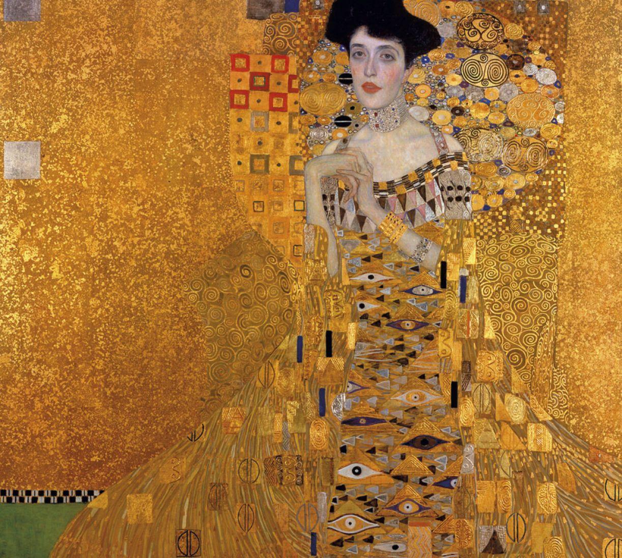 A obra 'Retrato de Adele Bloch-Bauer I, de Klimt, foi confiscada pelos nazistas e recuperada posteriormente