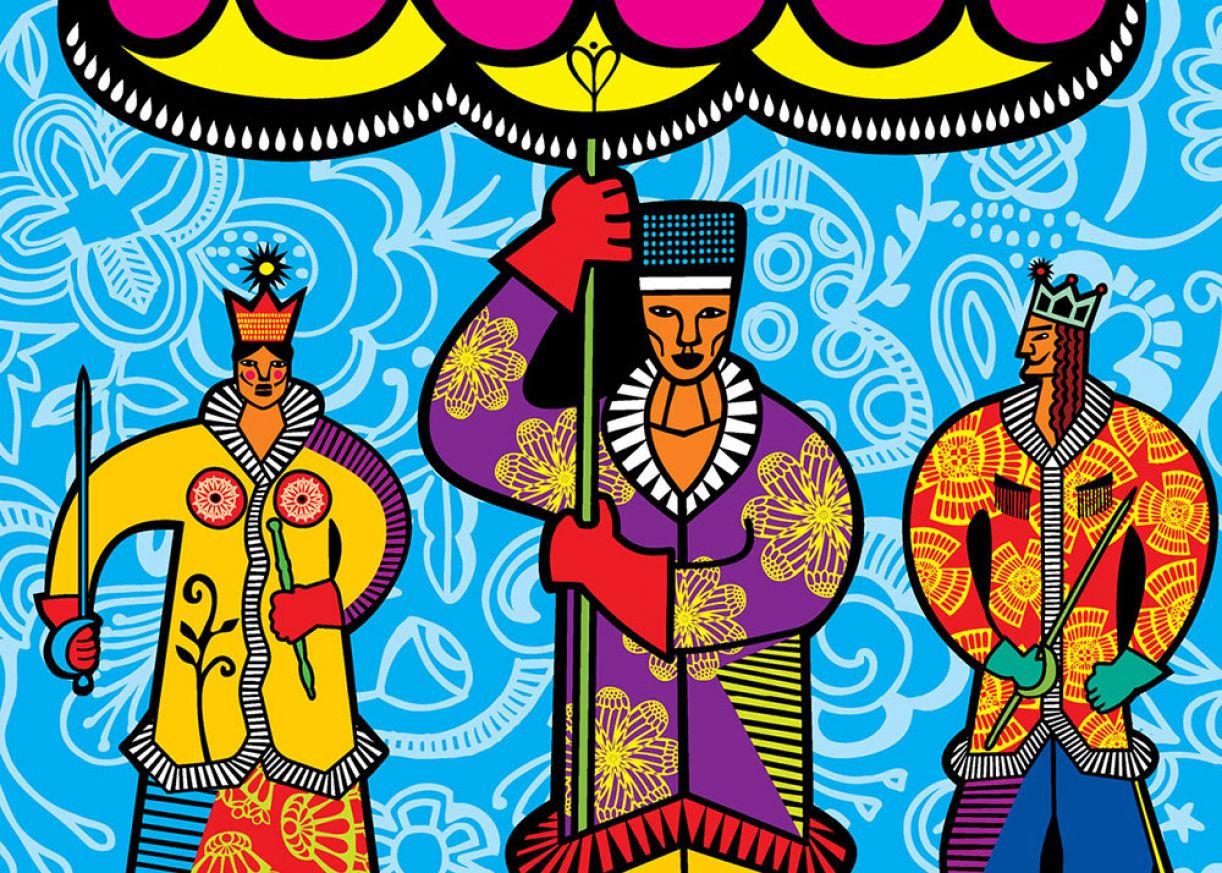 Personagens do maracatu estão entre as criações da artista