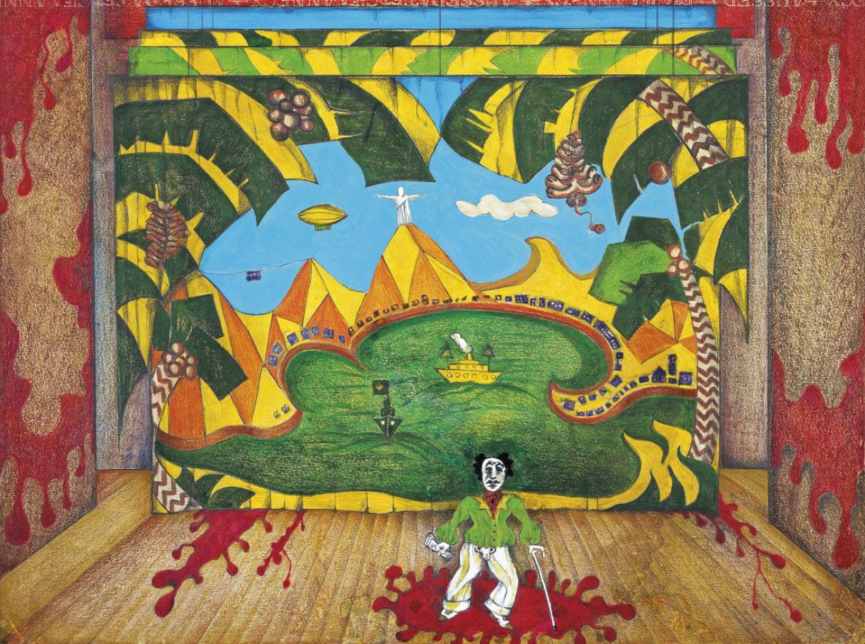 Desenho do cenário criado para 'O rei da vela', montagem de 1967, dirigida por José Celso Martinez