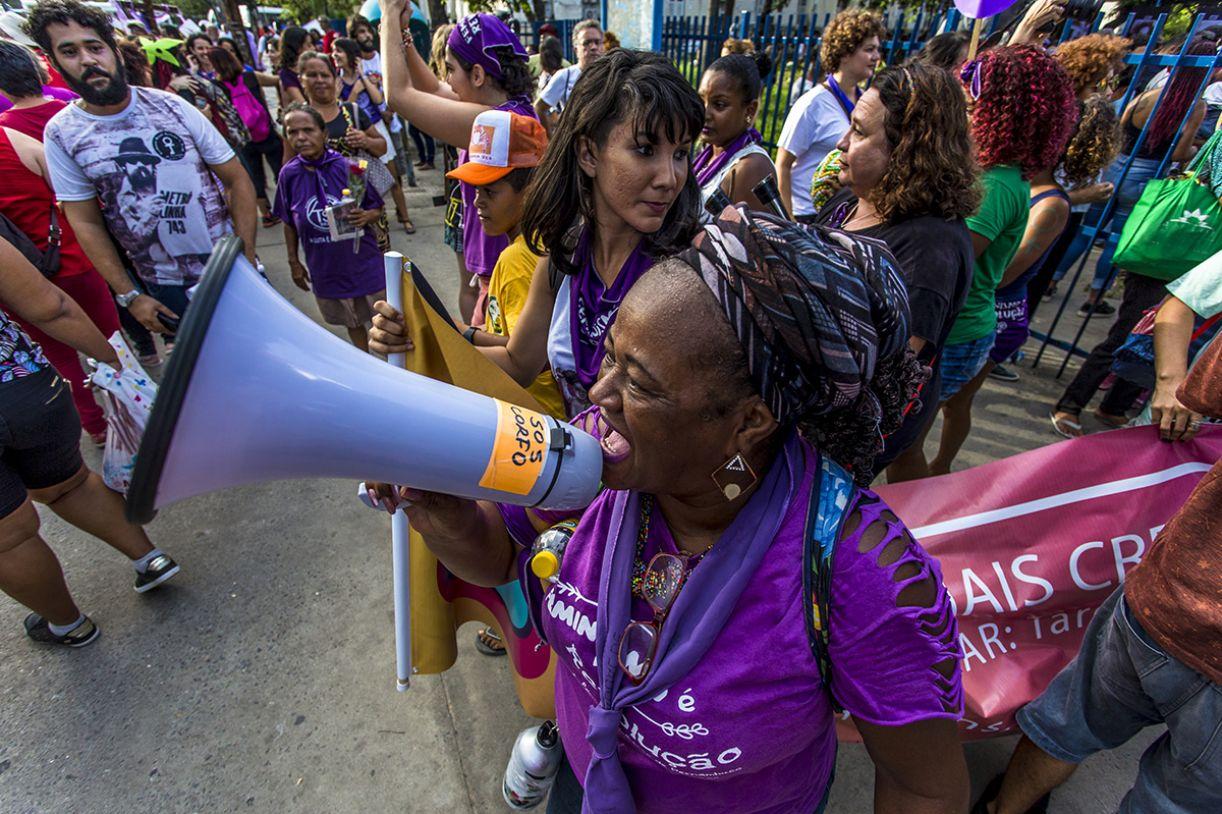 Edicléa Santos é coordenadora do Espaço Mulher, do movimento Ocupe Passarinho
