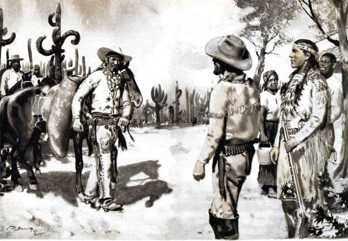 Ilustração do livro 'Old surehand'