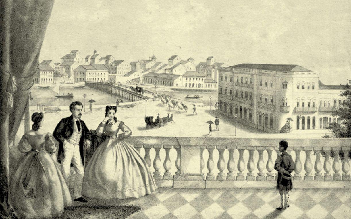 Ilustração para a capa do livro 'Ópera no Recife'