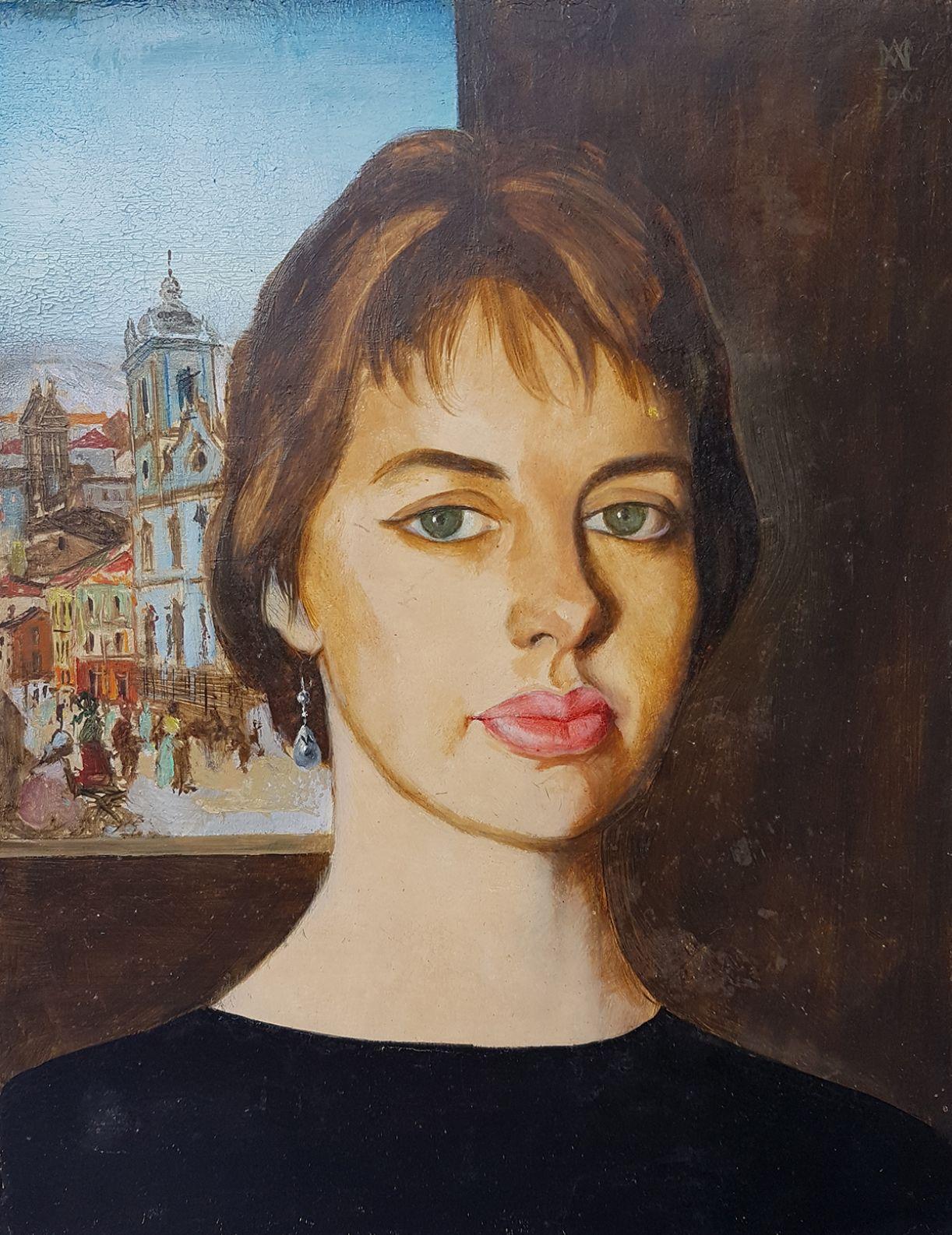 D. Nancy retratada por Mario Agostinelli