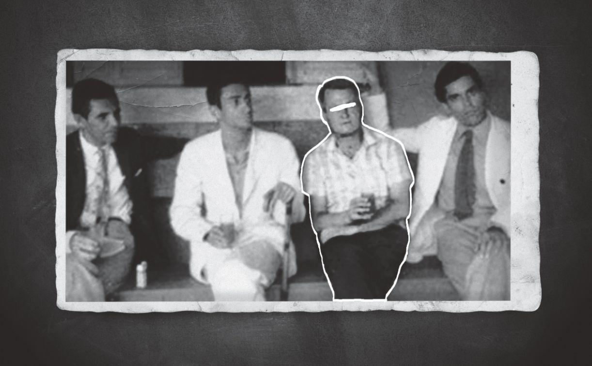 Da esquerda para a direita, Cesar Leal, Ariano Suassuna, Tomás Seixas e Francisco Brennand, em 1960