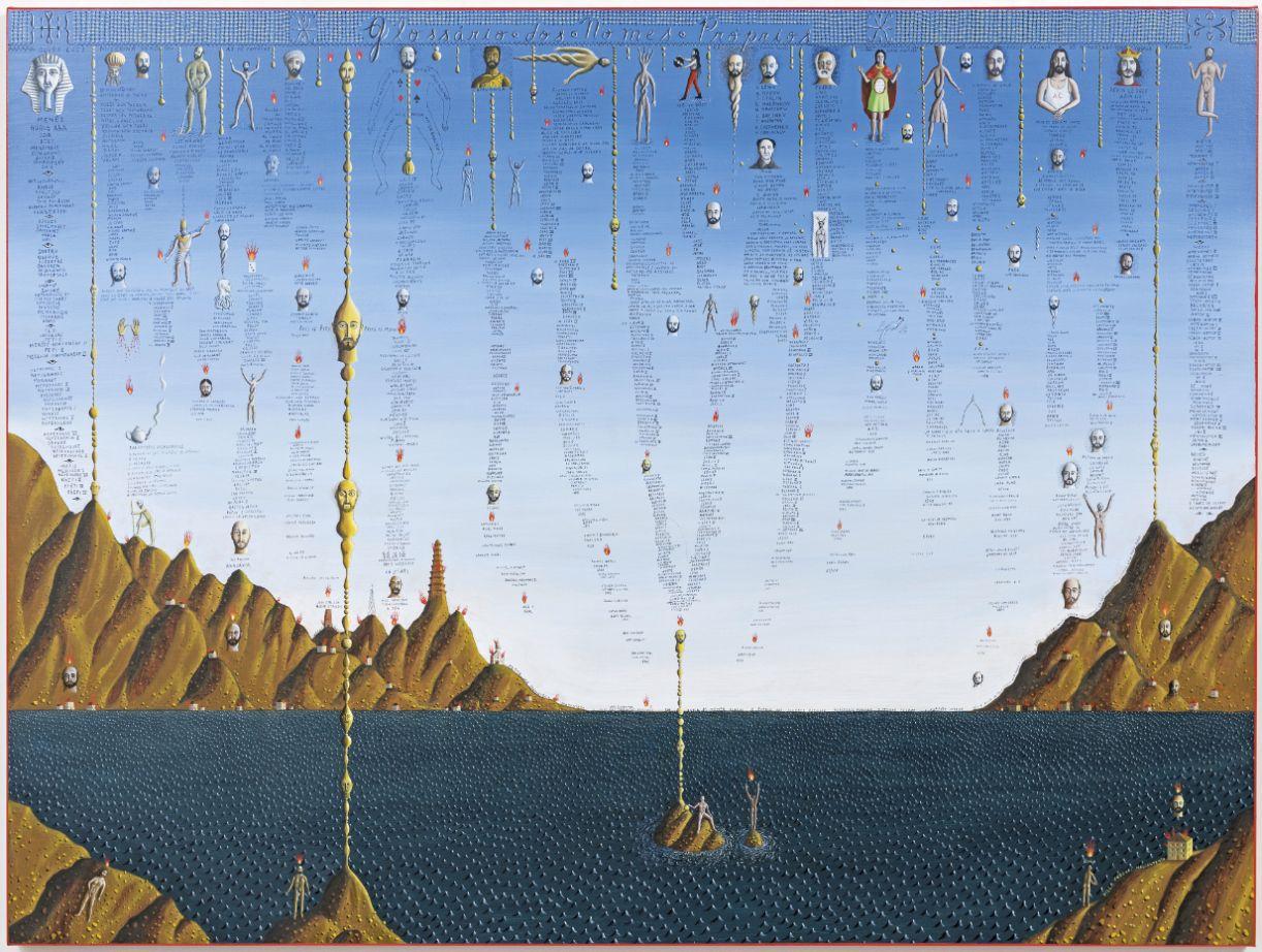 'Glossário dos nomes próprios', óleo s/linho, 120 x 160 cm, 2015