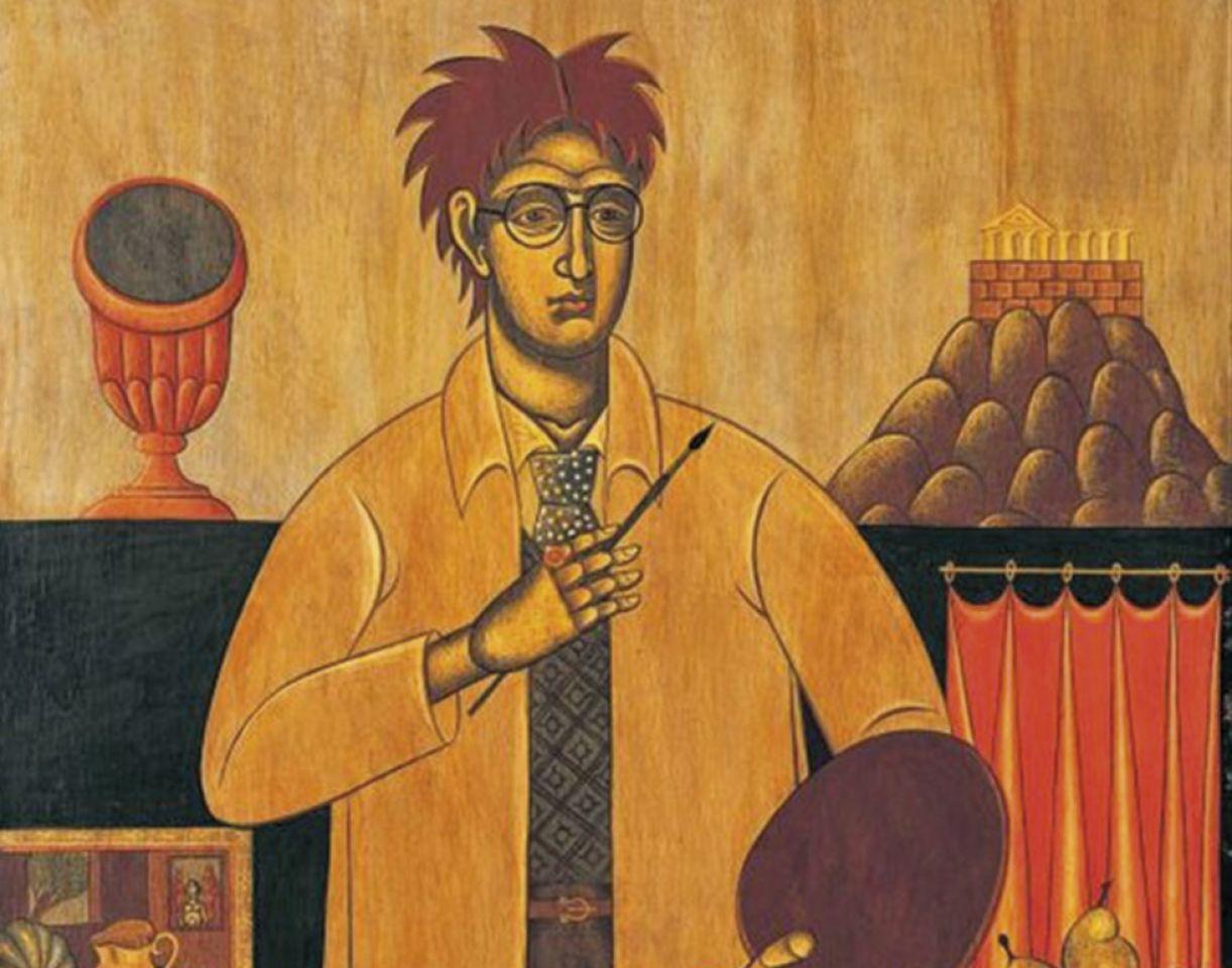 Um dos autorretratos de Nikos Engonopoulos, datado em 1935