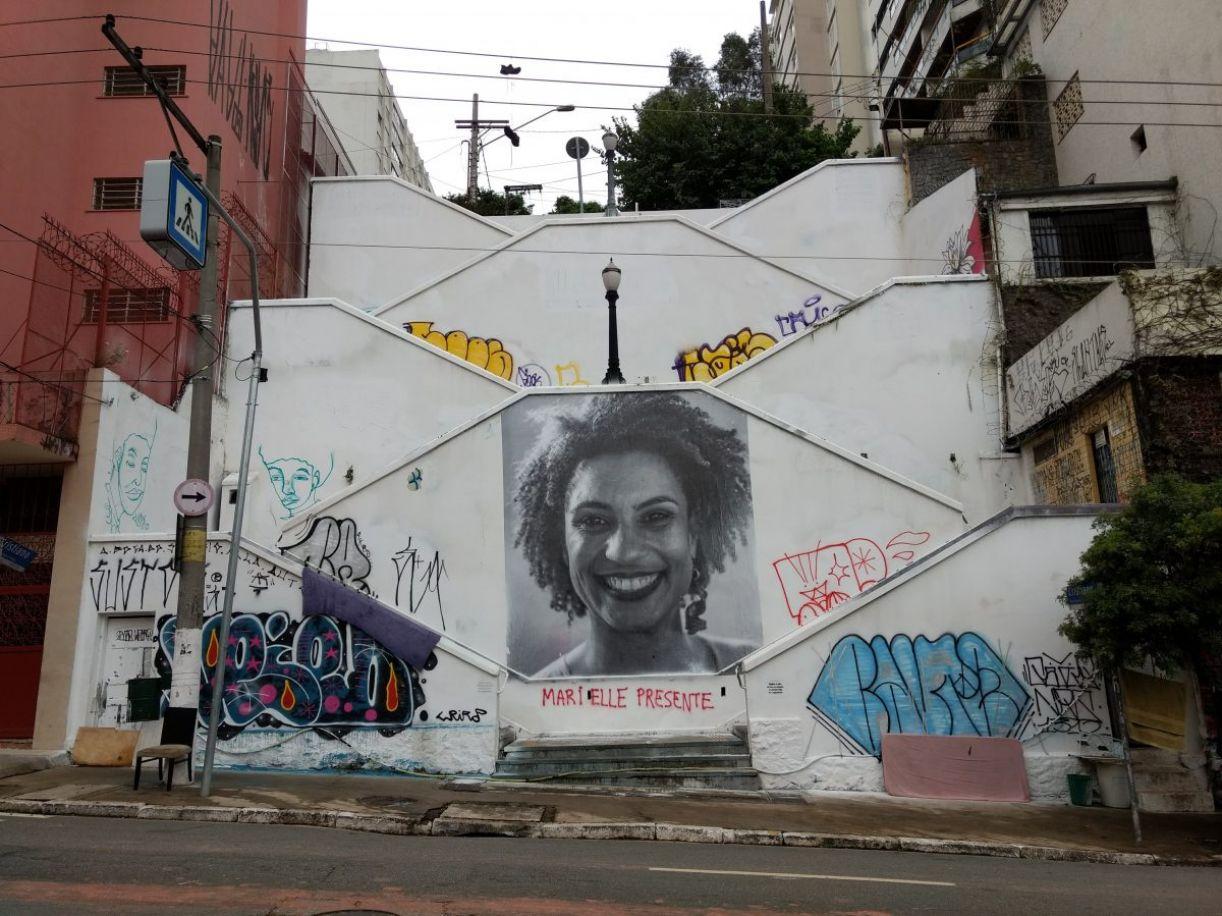 Um escadão para Marielle Franco em Pinheiros, São Paulo