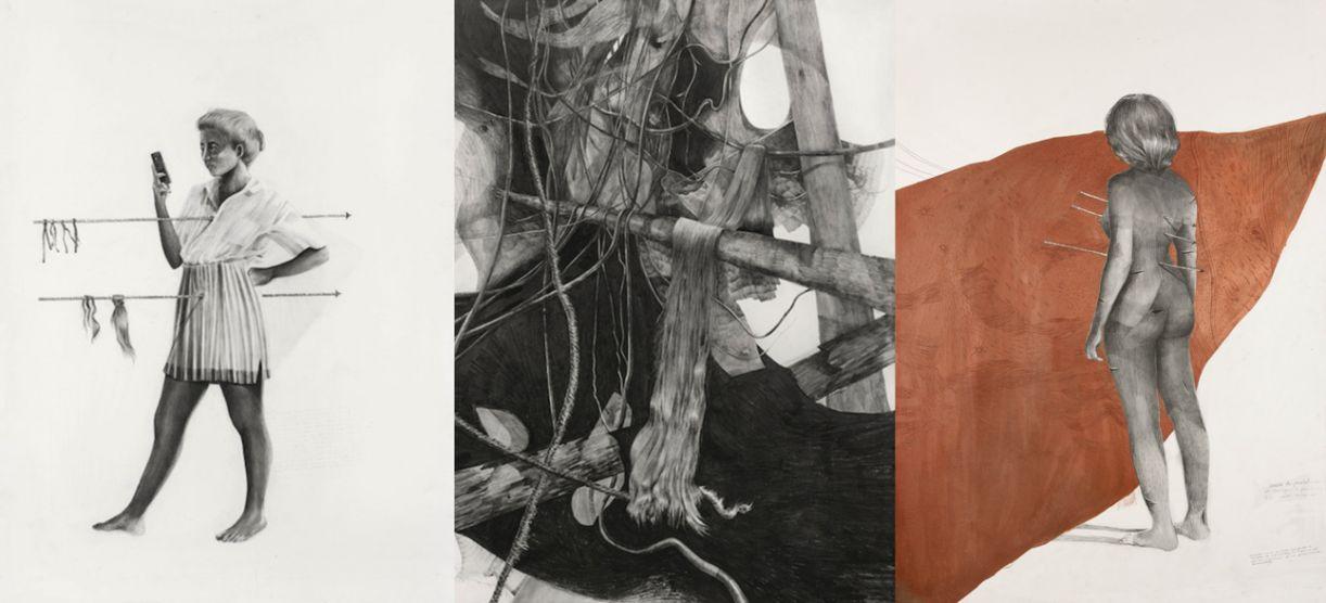 Desenhos de Juliana Lapa que vão estar na mostra da Torre Malakoff