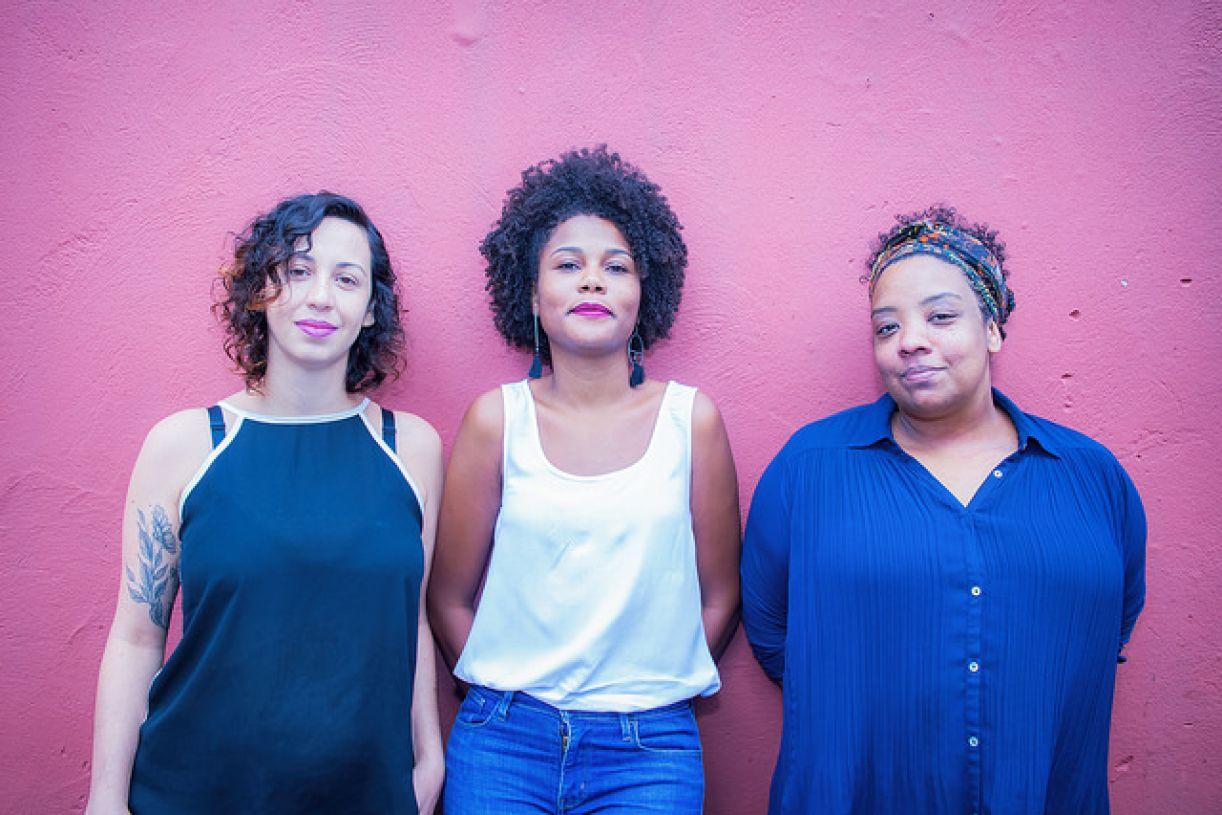 Luciana Romagnolli, Soraya Martins e Grace Passô, curadoras do FIT-BH 2018