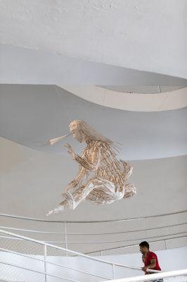 Peça de Ai Weiwei na exposição 'Raiz', na Oca (SP). Foto: Carol Quintanilha/Divulgação