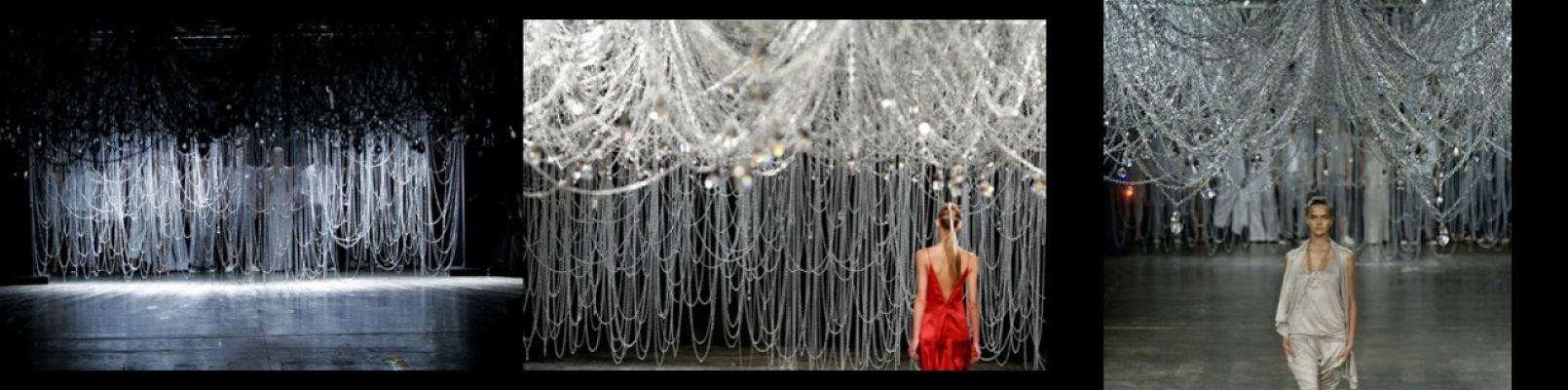 Cenário para o desfile da Uma na SPFW, Vértices, Mônica Rodrigues Fernandes