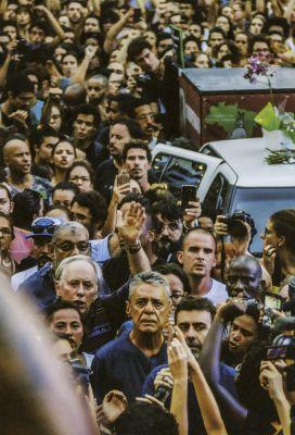 Em março de 2018, na Cinelândia, em manifestação contra o assassinato da vereadora Marielle Franco. Foto: Anistia Internacional/Bruno Kaiuca/Reprodução