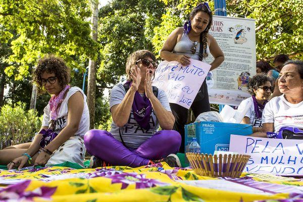 8M, Recife. Parque 13 de Maio. Foto: Ana Lira. Rodas de diálogo