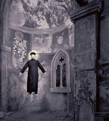 'Milagro de la levitación', série 'Milagros & co', 2002. Imagem: Joan Fontcuberta/Reprodução