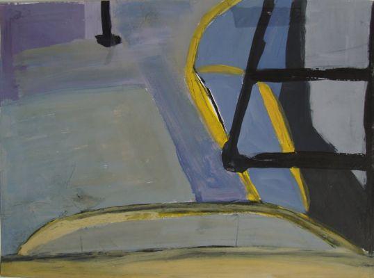 'Ônibus' (2005), guache. Por Flora Assumpção