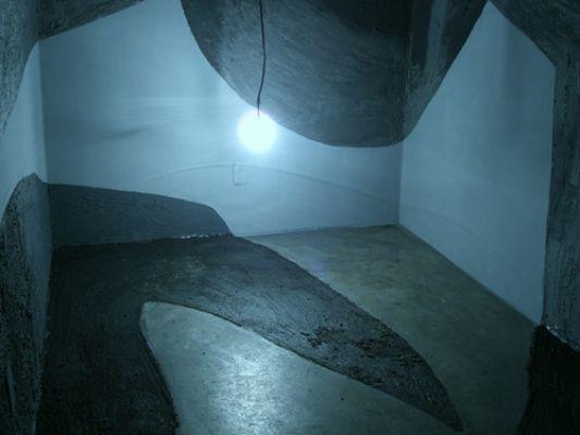 'Boiruna maculata (Mussurana)' (2007/2008). Instalação com 51 m². Por Flora Assumpção e Renato Pera