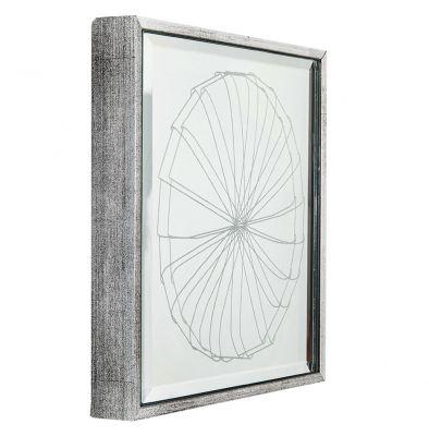 'Tatu (Prata)', da série 'Animais simbióticos' (2013-2014). Gravação a laser sobre espelho, 16 x 16 cm (aprox.). Por Flora Assumpção