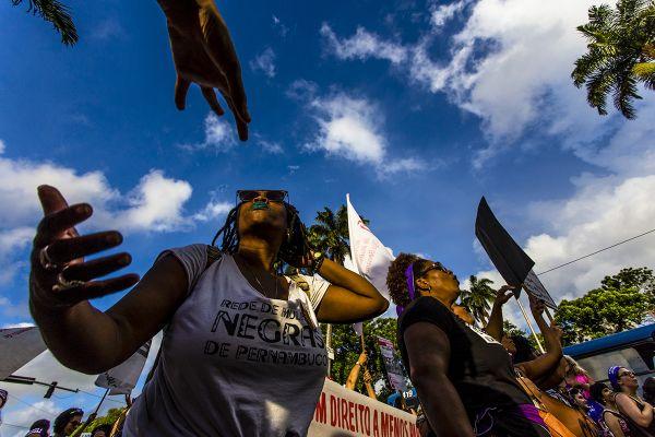 8M, Recife. Avenida Conde da Boa Vista. Foto: Ana Lira