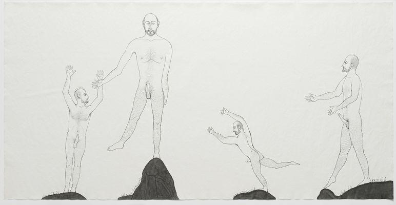Desenho de Alex Cerveny. Reprodução: Edouard Fraipont