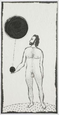'Homem'. Desenho de Alex Cerveny. Reprodução: Edouard Fraipont