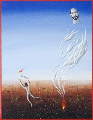 'Hanover'. Pintura de Alex Cerveny. Reprodução: E. Ballardin