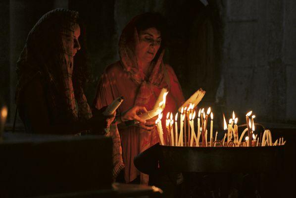 Cristãs na Basílica do Santo Sepulcro
