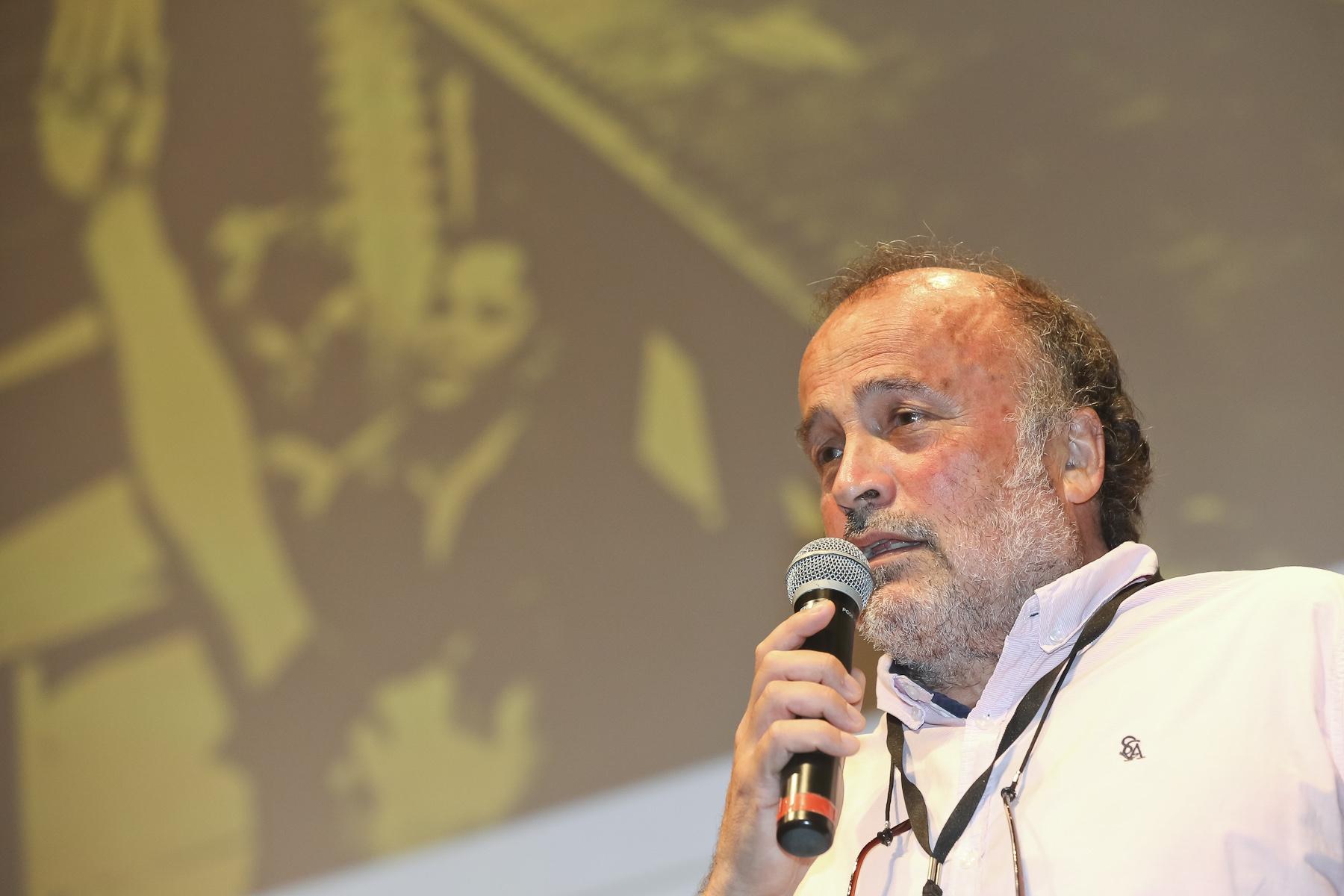 Cineasta Gonzalo Justiniano. FOTO: Thiago Gaspar/Cine Ceará